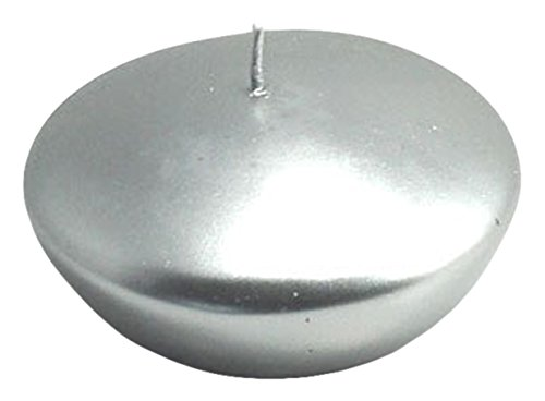 Zest Candle CFZ-066_6 72-Piece Floating Candle, 3'', Metallic Silver by Zest Candle (Image #1)