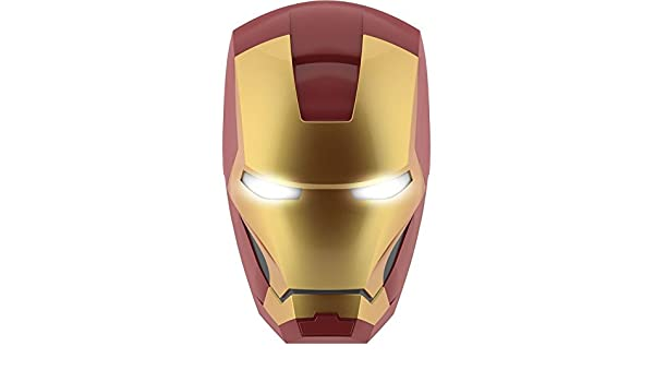 Philips Marvel lámpara de pared 3d máscara Iron Man - 3DLightFX LED Philips Iron Man Mask - Lámpara de LED nocturna para iluminar de Ansia la habitación ...