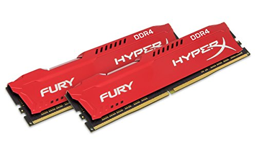 Kingston Technology HyperX Fury Red 16GB 3200MHz DDR4 CL18 DIMM 1Rx8 (Kit of 2) Memory HX432C18FR2K2/16