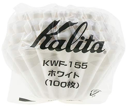 칼리타 커피 필터 웨이브 시리즈 1~2명 용 100 매들어감 화이트 KWF-155 #22213