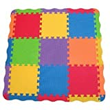 Toy / Game Bright Edushape Edu-Tiles 25 Piece Solid Play Mat With Edges & Corners - For Babies Of All Ages