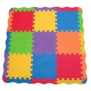 Toy / Game Bright Edushape Edu-Tiles 25 Piece Solid Play Mat With Edges & Corners - For Babies Of All Ages by 4KIDS