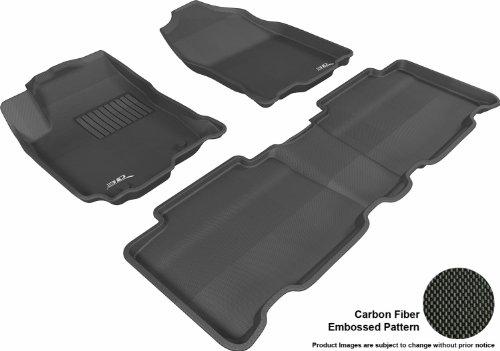 3D MAXpider Complete Set Custom Fit All-Weather Floor Mat for Select Toyota RAV4 Models - Kagu Rubber (Black)