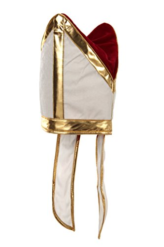 elope Holy Pope Hat, White/Gold, One Size]()