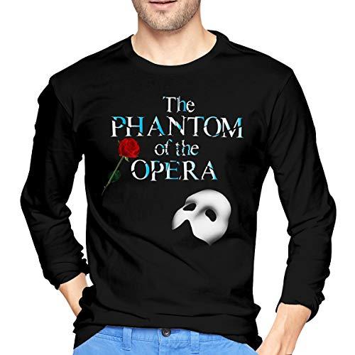LilianR The Phantom of The Opera Logo Men's Long Sleeve Tshirt Black M]()