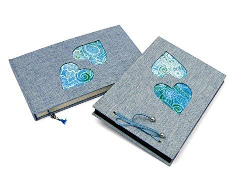 Álbum de fotos y libreta con corazones azules. Rebajado ...