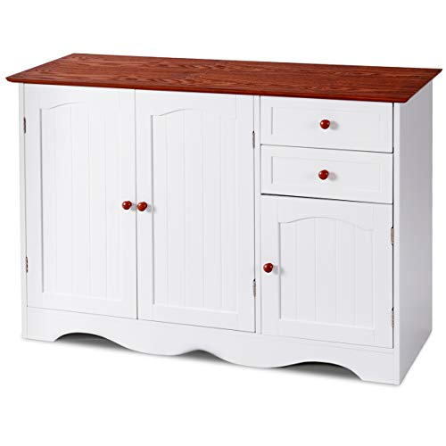 Giantex Storage Cabinet Console Sideboard Buffet Server Kitc