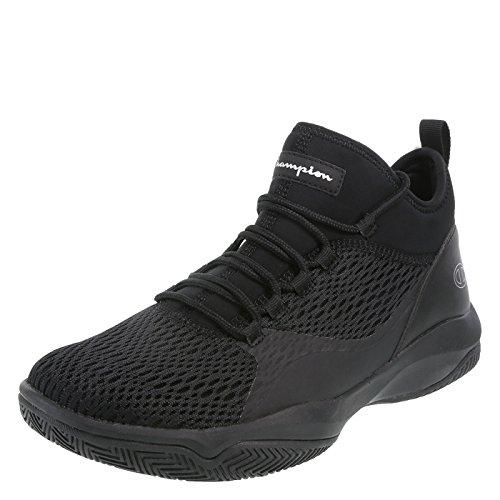 Champion Black Men's Clutch Slip-On Basketball Shoe 7 Regular