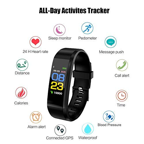 Amazon.com: Xnuoyo Fitness Tracker, Activity Tracker with Heart Rate Monitor,Smart Watch with Step Counter,Pedometer for Walking Heart Rate and Blood ...