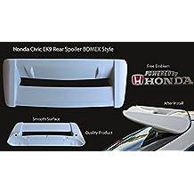 Honda Civic EK9 EK Rear Bonnet Spoiler Wing BOMEX Style Hatchback Free Emblem EK3 SO3