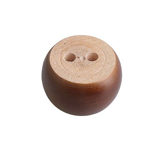 4pcs 40mm Height Dark Brown Eucalyptus Wood Round Bun Furniture Feet Sofa Cabinet Couch Legs