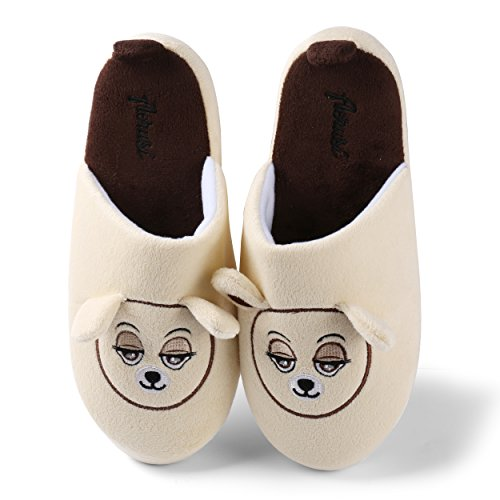 Pantofole Sonnolenta Comodi Slip-on Simpatici Orsacchiotti Per Uomo Beige