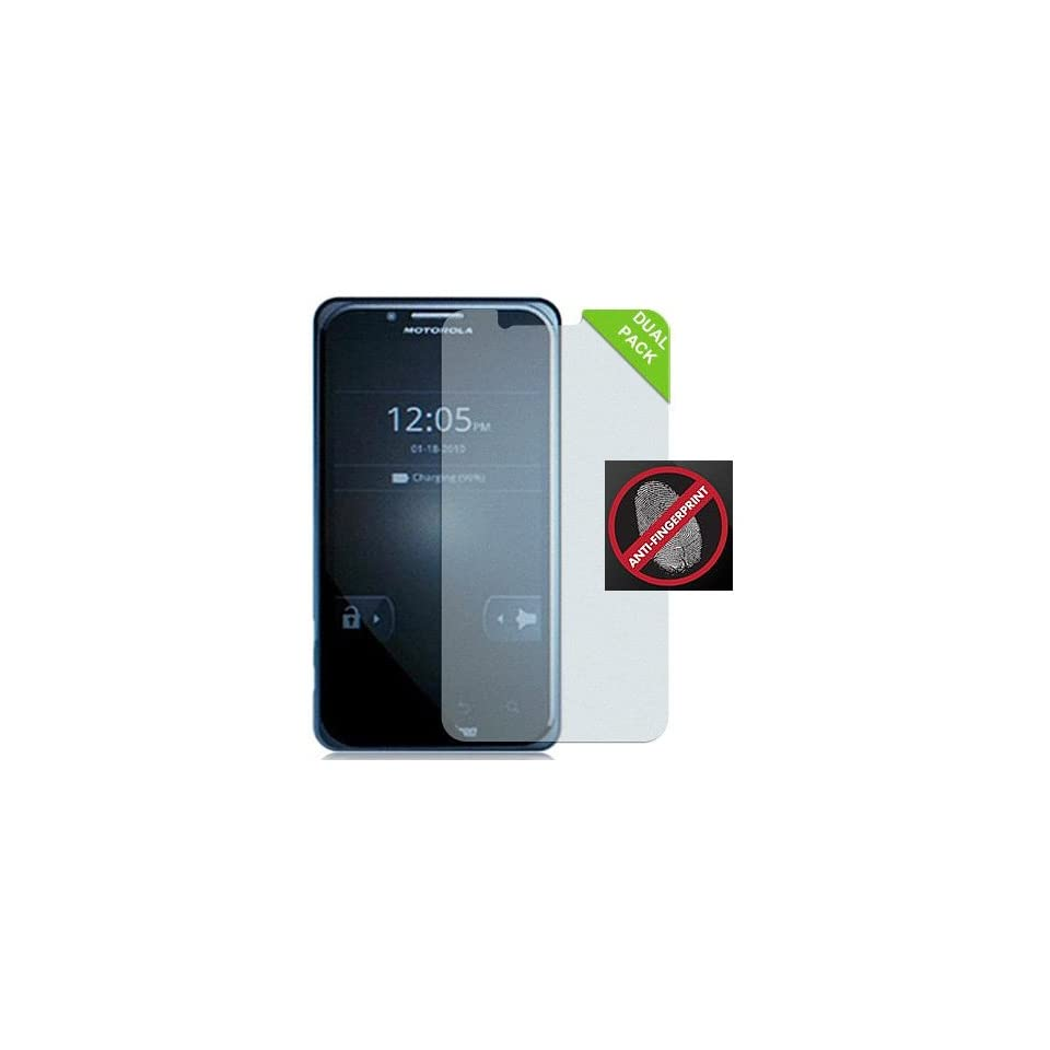 2 ANTI GLARE/FINGERPRINT LCD SCREEN PROTECTOR FOR MOTOROLA DROID BIONIC XT875