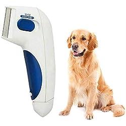 CYXYX Pulgas para Mascotas Pulgas Limpiador para piojos Cepillo eléctrico para Limpiar pulgas para Perros Pulgas antipulgas para Perros Peine de piojos para Gatos Perros 26 * 17.5 * 5cm