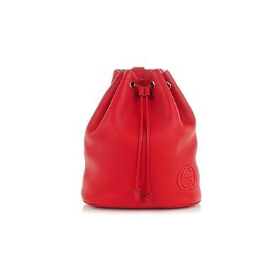 e9a3a0ed9b46 Amazon.com: Gucci Soho Drawstring 368588 Tabasco Backpack: Shoes