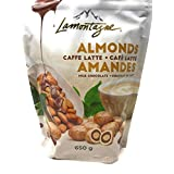 Lamontagne Milk Chocolate Almonds - Caffe Latte - Almonds Covered in Layers of Aromatic Coffee Brittles and Creamy Chocolate