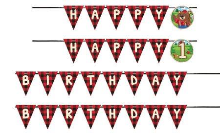 Lum Bear Jack Shaped Ribbon Banner Birthday Party Supplies