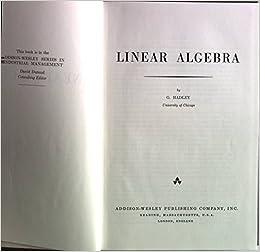 Hadley pdf algebra linear