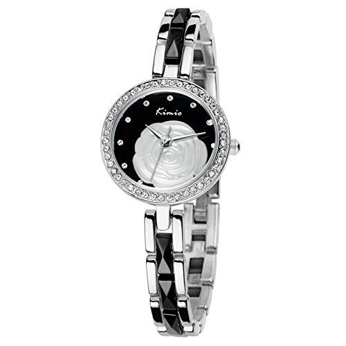 Al por mayor Jin Miou Reloj de pulsera 100% Lady Fashion reloj de pulsera al por mayor flor cara KW500S oro, KW5: Amazon.es: Relojes