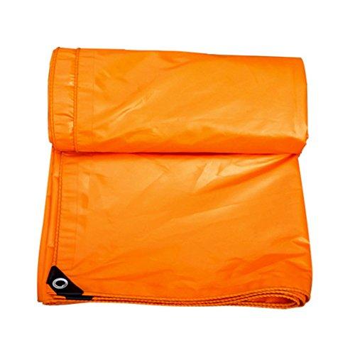 Zelt Zubehör Plane Orange Plane Blatt Tarps Multifunktions-Poncho für Camping Angeln Gartenarbeit, Dicke 0,32 mm, 420 g   m² - 100% wasserdicht und UV-geschützt, 17 Größe verfügbar Idee für Camping Wa