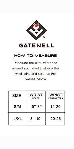 Gatewell Wrist Sprains, Brace, Stabilizer For Tendonitis, Tenosynovitis , Strain Caused By Typing, Writing, Sporting Activities S/M