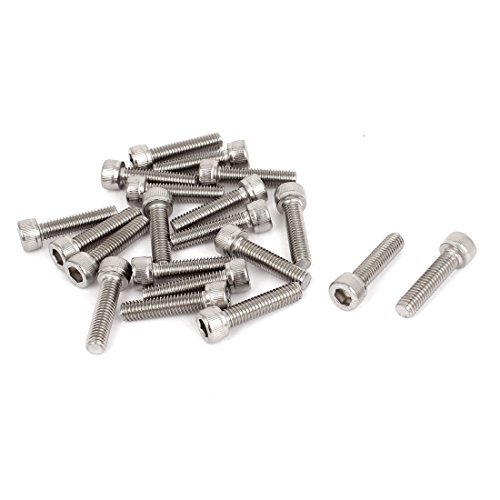 25mm Bolts (M6x25mm Stainless Steel Hex Socket Cap Screws Head Key Bolts 20 Pcs)