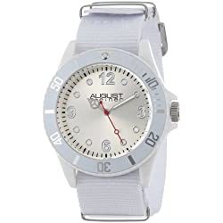August Steiner Kids' AS8061WT Juniors White Plastic Watch with Nylon Band