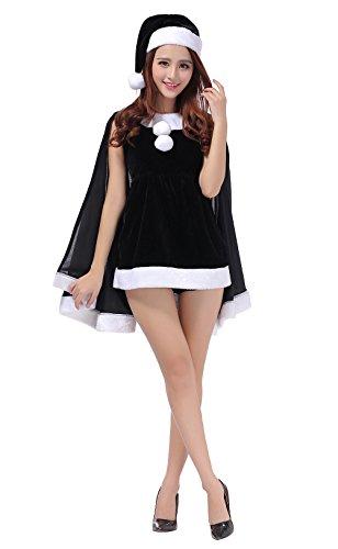 [YFFaye Women's Black Shawl Christmas Tree Shirt Party Dress] (Black Sheep Costumes)