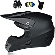 mkjh Full Face Motorcycle Helmet DOT and ECE Approved with Flip Up Dual Visor Motorbike ABS Helmet Racing Cras