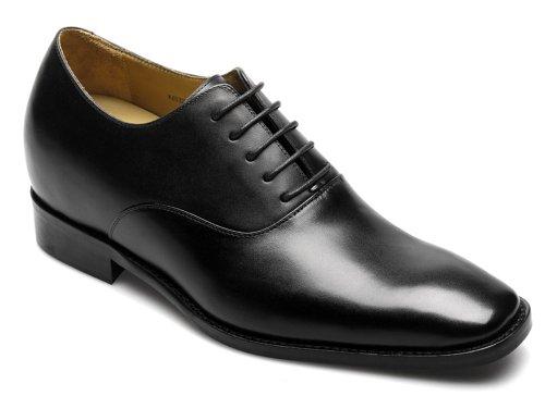 Monza schwarz kombinierte Ledersohle, damit werden Sie bis zu 7 cm groesser, moronti.de Schwarz