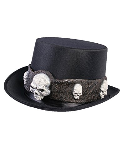 (Forum Novelties Party Supplies Unisex-Adults Top Hat W/Skulls, Black, Standard, Multi )