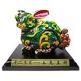 Hand-painted Rabbit Zodiac Enhancer