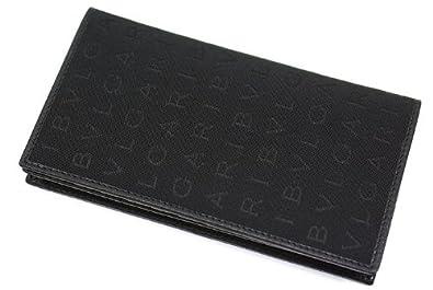 fd21bca73396 BVLAGRI ブルガリ レッタレ 財布 長財布 キャンバス ブラック 31001 【並行輸入品】