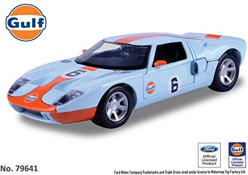 - Motormax Ford GT Concept, #6 Gulf Oil 79641 - 1/24 Scale Diecast Model Toy Car