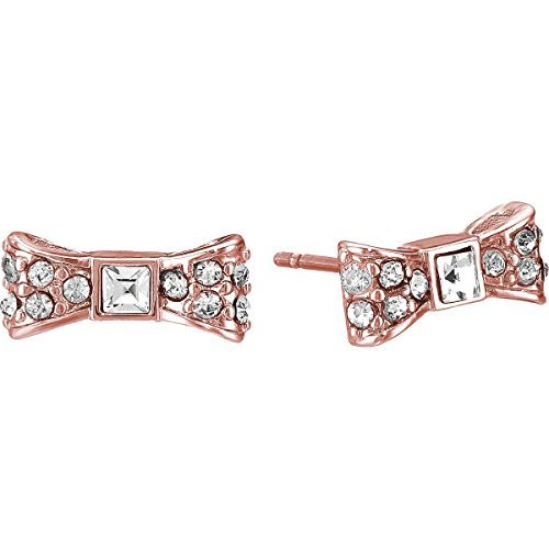 Kate Spade New York ''Ready Set Bow'' Pave Stud Earrings, Rose Gold Tone