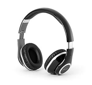 MusicMan Wireless Bluetooth On Ear Stereo Headphones - Black by Music Man