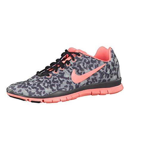 NIKE Women's Wmns Free TR Fit 3 PRT, STEALTH/ATOMIC PINK -MTLC HMTT-BLACK, 9.5 M US