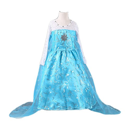 FE11 Disney Frozen Inspired Lace Elsa Costume Dress Girl Cosplay Party 3T-12 (11/12-150cm)