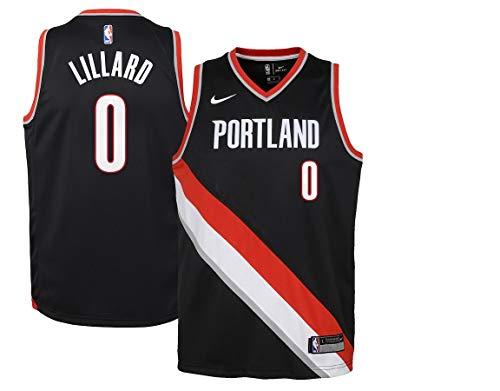 NIKE Youth Damian Lillard Portland Trail Blazers Swingman Jersey Icon Edition Size S