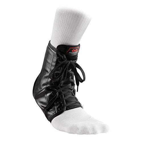 McDavid Level 3 Ankle Brace/Lace-Up with Inserts, X-Small, White