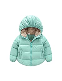 Sanke Hooded Baby Boys Girls Winter Warm Puffer Jackets Lightweight Down Jacket