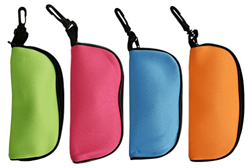 Foam Soft Eyeglass Case For Safely Storing Your Eyewear! Keep Your Eyewear Clean and Unscuffed With These Colorful Assorted Pouches! (Set of - Designer Eyeglasses Bling With