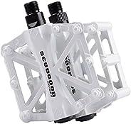 Mountain Bike Pedals TXJ Aluminum Alloy Platform Pedals Bicycle Pedals Road Bike Pedals for BMX MTB Cycling 9/