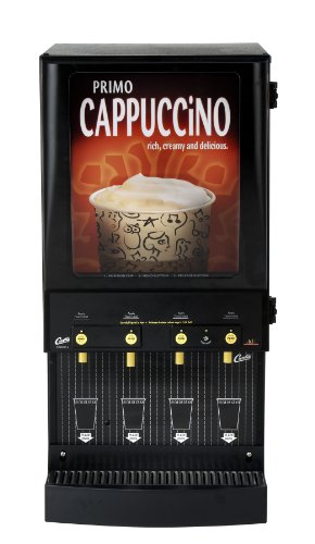Wilbur Curtis Café Primo Cappuccino with Lightbox 4 Station Cappuccino (4 Lb Hoppers) - Commercial Cappuccino Machine - CAFEPC4CL10000 (Each) by Wilbur Curtis
