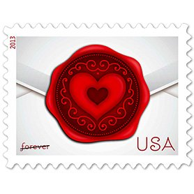 Sealed with Love Collectible US Postage Stamp (Love Postal Stamps)