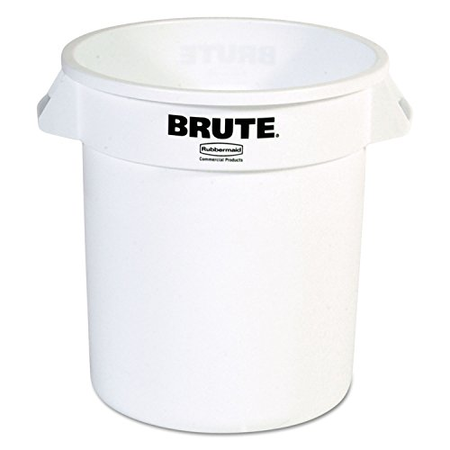Rubbermaid Commercial RCP 2610 WHI Round Brute Container, Plastic, 10 gal, (10 Gallon Brute Round Container)