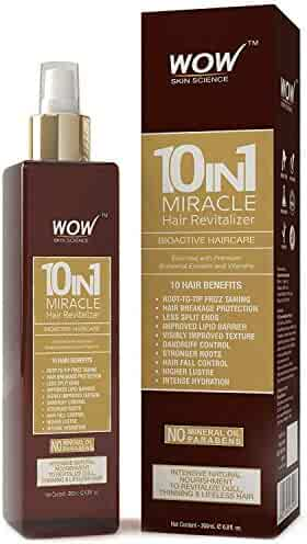 WOW Leave In Conditioner Spray - Miracle Hair Revitalizer For Dry Scalp & Hair - Strong, Healthy Hair Growth - Reduce Hair Loss, Dandruff, Frizz - Increase Texture, Volume, Hydration - 200 mL