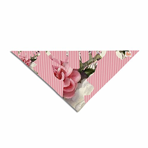 KESS InHouse Suzanne Carter Floral Deer Pink White Pet Bandana, 28
