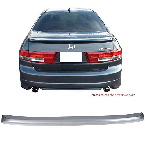 Pre-Painted Trunk Spoiler Fits 2003-2005 Honda Accord | Factory Style #NH658P Satin Silver Metallic ABS Car Exterior Trunk Spoiler Rear Wing Tail Roof Top Lid by IKON MOTORSPORTS | 2004