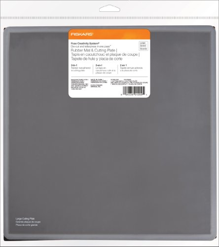 Fiskars Fuse System Rubber Mat and Cutting Plate, Large (101180-1001) Fiskars Fuse